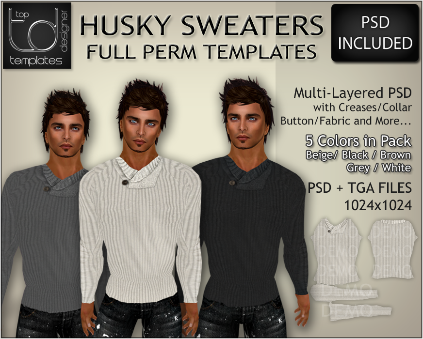 Available Now In-Store and on SL Marketplace. Great for Xmas. In Multi